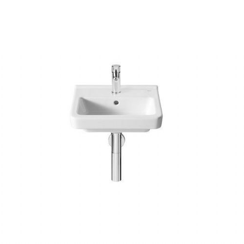 Roca Dama-N Compact Wall Hung Basin - 400mm - 1 Tap Hole - White